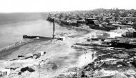 La costa sur de Montevideo antes de la construcción de la rambla.