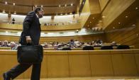 Mariano Rajoy prefirió mostrarse conforme con haber sido el PP la fuerza más votada.