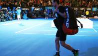 Murray sale fortalecido de Melbourne. Foto AFP