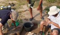 Entre los artefactos hallados hay cerámica, tanto indígena como europea.