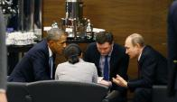 Barack Obama se reunió en Turquía con Vladimir Putin. Foto. EFE