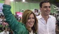 Susana Díaz, candidata del Partido Socialista de España