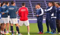 Juventud entrenó en el Franzini. Foto: G. Pérez