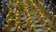 El color en el Carnaval de Rio. Foto: Reuters