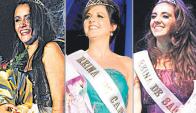 Bellezas: Garrido, Quenón y Alonso.