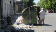 Según el sindicato, hay más de 2.000 contenedores que no se han levantado. Foto: A. Colmegna.