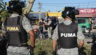 Efectivos ayer incautaron y fiscalizaron motos. Foto: A.Martínez.