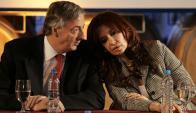 Néstor y Cristina Kirchner. Foto:AFP.