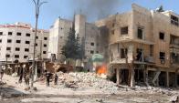 Avance yihadista, cada vez más cerca de la capital siria, Damasco, deja muertes a su paso. Foto: Reuters.