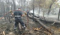 Incendio en Punta del Diablo, el 29 de marzo de 2015. Foto: Ricardo Figueredo.