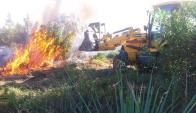 Incendio en Punta del Diablo. Foto: Eduardo González