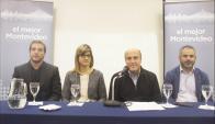 Martínez presenta a su gabinete para la IMM: Foto: Frente Amplio