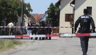 Tiroteo en Ansbach, Alemania. Foto: EFE