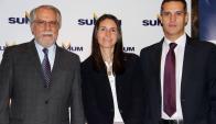 Carlos Vallejo, Fiorella Carlone, Santiago Legarra.