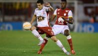 Huracán e Independiente Santa Fe igualaron 0-0. Foto: EFE