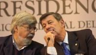Eduardo Bonomi y Rodolfo Nin Novoa. Foto: Archivo de El País.