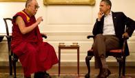 """Obama se refirió al dalái como un """"buen amigo"""". Foto: Archivo El País"""