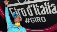 Fabio Aru, ganador de la 19a etapa del Giro de Italia