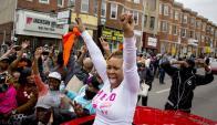 Comunidad afroamericana se volcó a la calle para festejar el fallo de la fiscal. Foto: Reuters.
