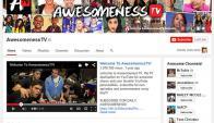 En la foto, el canal de AwesomenessTV en YouTube. Foto: YouTube
