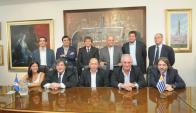 Asunción de la nueva directiva de Nacional.  Foto: Leonardo Mainé