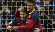 Claves. Messi y Neymar, fuerza letal blaugrana. Foto: EFE