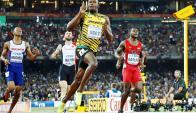 Usain Bolt al cruzar la meta. Foto: Reuters