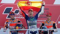 Jorge Lorenzo, campeón del mundo en Moto GP. Foto: EFE