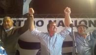 """""""Aquí está el viejo partido"""", dijo Botana tras imponerse sobre el FA en la elección. Foto: N.Araújo."""