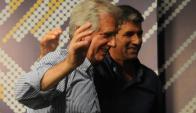 Tabaré Vázquez y Raúl Sendic. Foto: Archivo El País