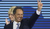 Daniel Scioli, candidato a presidente argentino por el FPV. Foto: AFP.