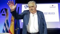 Mujica en Madrid durante un acto en la Casa de América. Foto: EFE