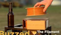 La empresa 3Dom creó un filamento para impresoras 3D hecho con los residuos de la producción de cerveza.