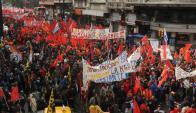 Nueva marcha del Pit-Cnt en paro al gobierno de Vázquez. Foto: F. Flores
