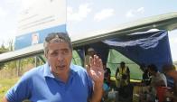 El dirigente del Sunca Richard Ferreira en la ocupación. Foto: Agustín Martínez