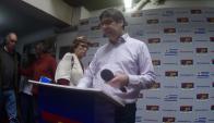 Miranda reconoció en diálogo con la prensa que puso la renuncia arriba de la mesa. Foto: F. Ponzetto