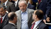Lula es acusado de recibir de Odebrecht el terreno para el instituto que fundó. Foto: AFP
