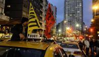 Movilización del Suatt contra Uber. Foto: D. Borrelli