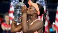 Sloane Stephens se quedó con el US Open en su tierra. Foto: AFP