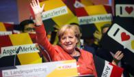 Avanza: Angela Merkel busca la victoria para su cuarto mandato. Foto: AFP
