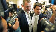El propietario de JBS (sin corbata) se entregó en Río de Janeiro. Foto: EFE