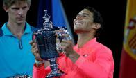 La alegría de Rafa Nadal contra la frustración de Kevin Anderson. Foto: Reuters