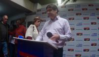 Javier Miranda, presidente del FA. Foto: Fernando Ponzetto.