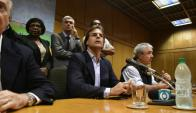 Conferencia de prensa del Partido Nacional tras la renuncia de Raúl Sendic. Foto: Fernando Ponzetto.
