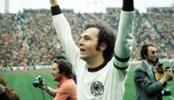 Franz Beckenbauer en el Mundial de 1974, cuando Alemania fue campeón