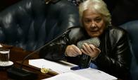 Lucía Topolansky en el Senado. Foto: Fernando Ponzetto.
