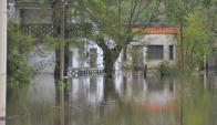Crecida: el nivel del río Yi afectó a varias viviendas de Durazno. Foto: V. Rodríguez