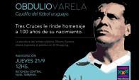 El homenaje de Tres Cruces a Obdulio Varela a los 100 años de su nacimiento. Foto: difusión