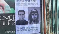 Campaña en la ciudad de Palermo con afiches el rostro de Rocco Morabito. Foto: Klaus Davi