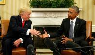 Donald Trump y Barack Obama en la Casa Blanca. Foto: Reuters